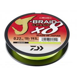 DAIWA J-Braid Grand X8 Chartreuse pletená rybárska šnúra