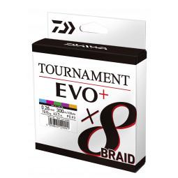 DAIWA Tournament 8 Braid Evo+ multicolor rybárska pletená šnúra