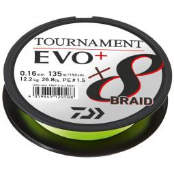 DAIWA Tournament 8 Braid Evo+ Chartreuse rybárska pletená šnúra