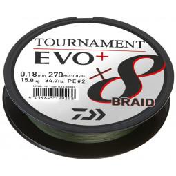 DAIWA Tournament x8 Braid Evo + rybárska pletená šnúra 270 m