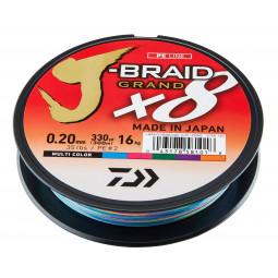 DAIWA J-Braid Grand X8 Multi-color Pletená šnúra