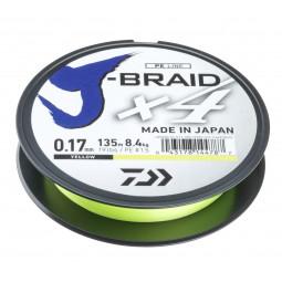 DAIWA J-Braid X4 Žltá Pletená šnúra