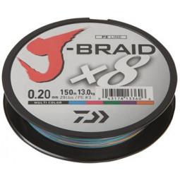 DAIWA J-Braid X8 Multicolor 300 m   Pletená šnúra